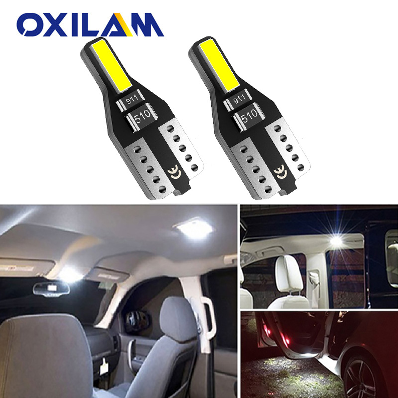 2pcs W5W T10 LED Bulb 194 168 Car Interior Light For Nissan Note Tiida Qashqai Almera Juke X-Trail Primera J11 Pathfinder Versa