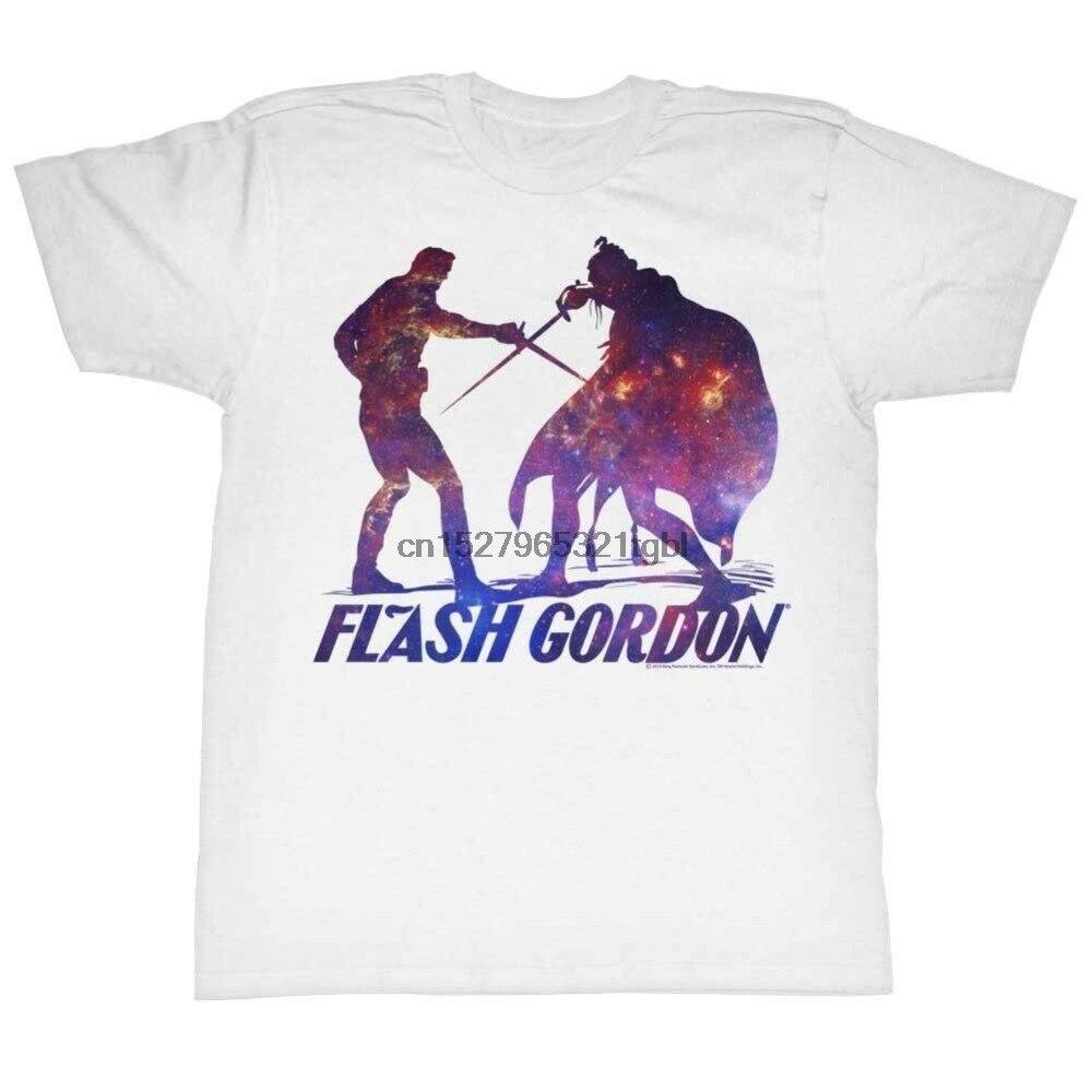 Flash Gordon T-Shirt Battle White Tee New Hip Hop Men and Men Brand Clothing Fashion Tees Short Sleeve Shirts(China)
