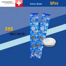 5 batteries de montre en oxyde d'argent renata 390 SR1130SW 1130 1.55V 100% marque originale renata 390 renata 1130