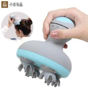 Image 1 - Youpin mini cabeça massager 3d estéreo massagem em dois sentidos surround quatro rodas rotação 6 tipos de massagem manual instrumento de massagem