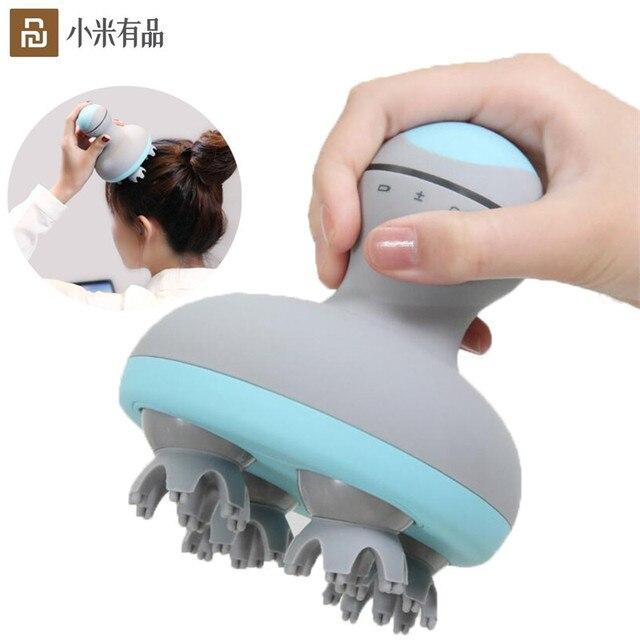 Youpin mini cabeça massager 3d estéreo massagem em dois sentidos surround quatro rodas rotação 6 tipos de massagem manual instrumento de massagem