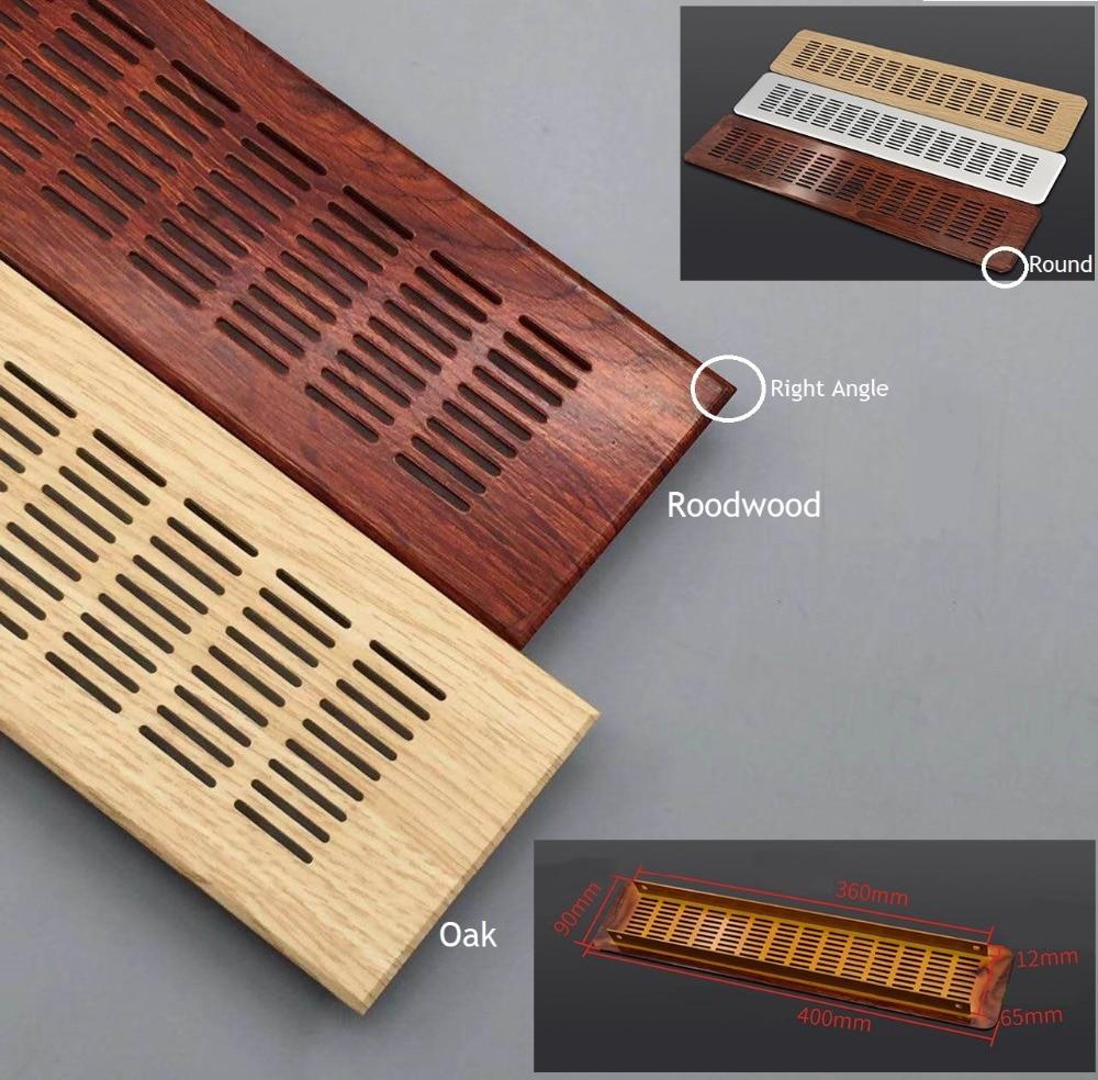 Rectangle 40cm Aluminum Rectangle Wood Texture Air Vent Ventilator Grille Cover Closet Shoe Cabinet Floor Air Conditioner