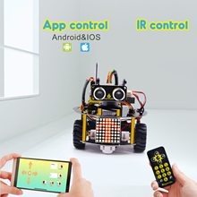 NEW UPDATE! Keyestudio Smart Little Turtle Robot Car V3.0 for Arduino Robot STEM/Support IOS &Android APP Control