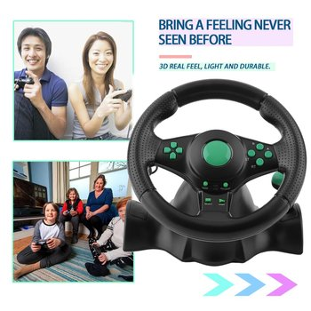 New 180 Degree Rotation Gaming Vibration Racing Game Steering Wheel With Pedals For XBOX 360 PS2 PS3 PC USB Car