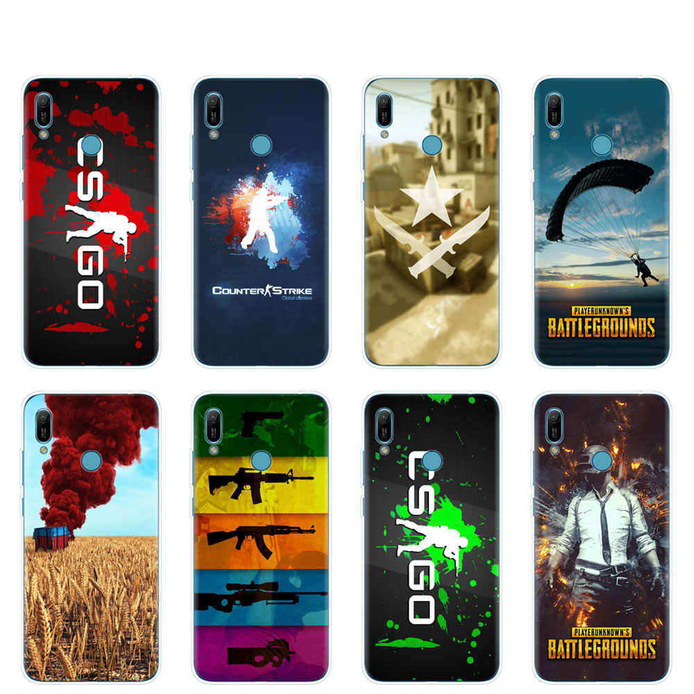 Silicon case capa do telefone para huawei Y5 Y6 Y7 Y9 PRO PRIME 2019 honor 8s 8a 20 LITE PRO 10i vista 20 V20 Counter Strike CS IR PUBG