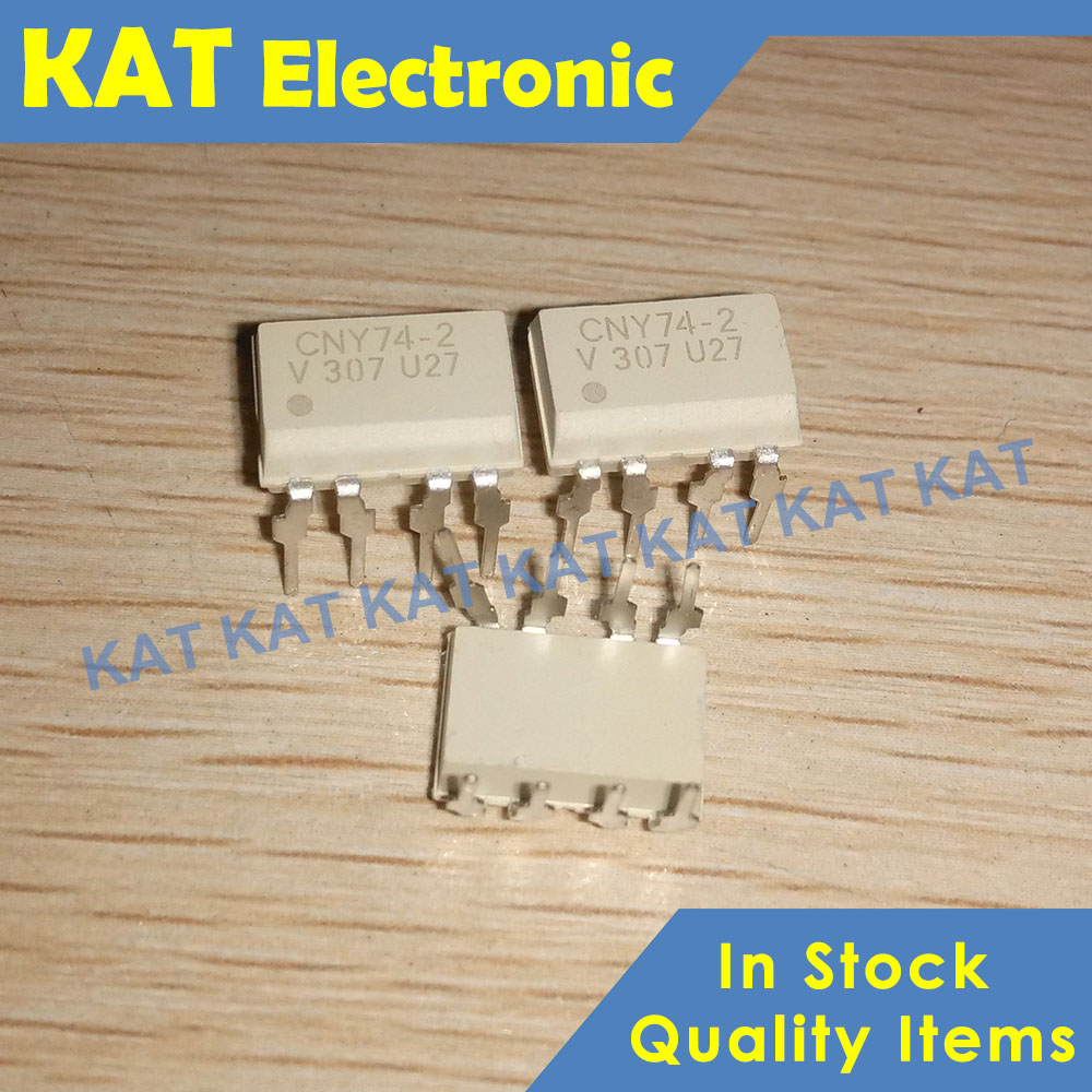 10PCS/Lot CNY74-2 CNY74-2H DIP-8 Multichannel Optocoupler With Phototransistor Output