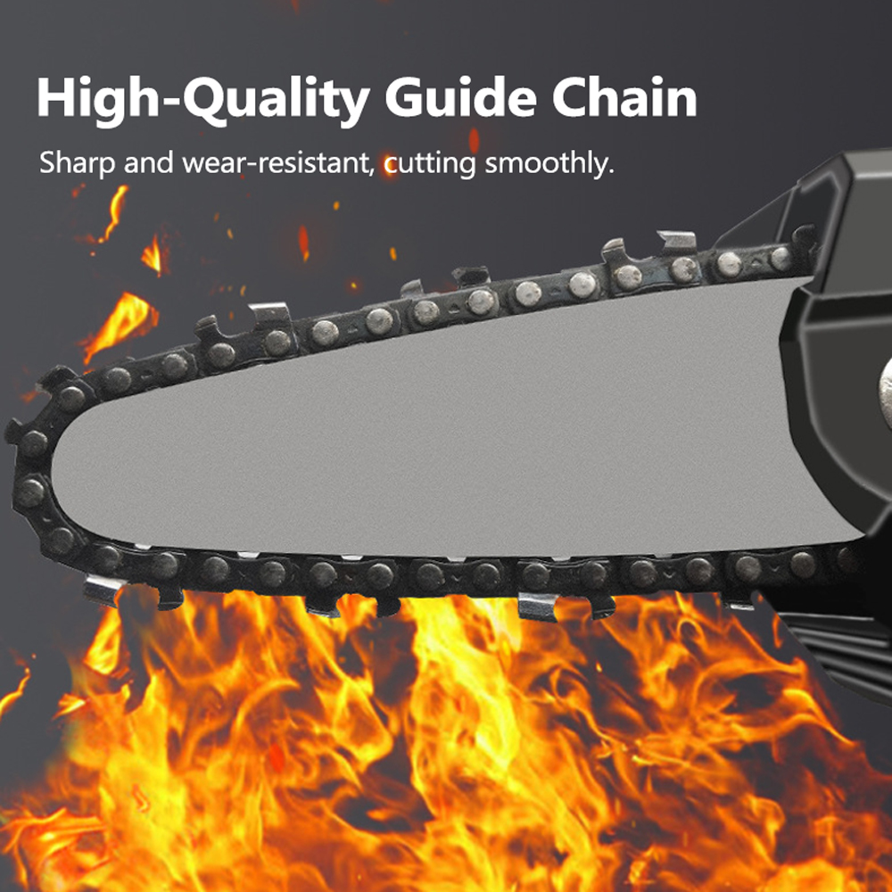 Tools : 24V Lithium Battery Electric Pruning Saw Rechargeable Electric Saws Woodworking One-handed Electric Saw Garden Logging Chain Saw