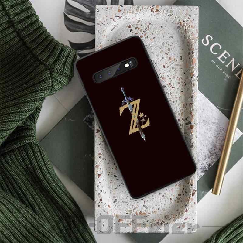 أسطورة زيلدا غطاء أسود لينة شل قضية الهاتف لسامسونج S5 6 7 8 9 10 S8 S9 S10 زائد S10E لايت S10-5G S20 UITRA زائد