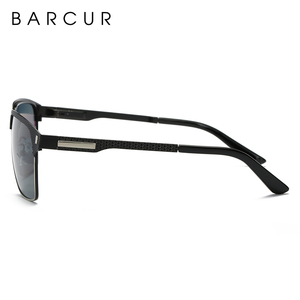 Image 5 - BARCUR Black High Quality Polarized Sunglasses Men Driving Sun Glasses for Man Shades Eyewear With Box