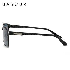 Image 5 - BARCUR czarne wysokiej jakości okulary polaryzacyjne mężczyźni jazdy okulary przeciwsłoneczne dla człowieka odcienie okulary z pudełkiem