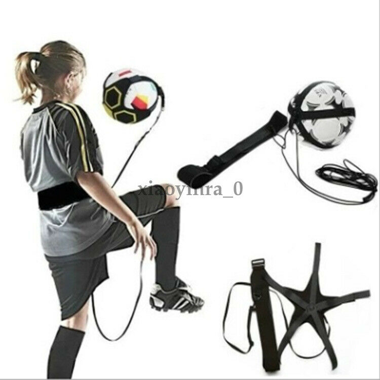 Adjustable Football Kick Trainer Soccer Ball Train Aid Equipment Practice Belt Supports