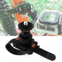Bicicleta rotatable liberação rápida zip tie cinta suporte de montagem clipe para gopro hero 8/7/6/5/4/3/3 +/2 xiaomi yi câmera esportiva