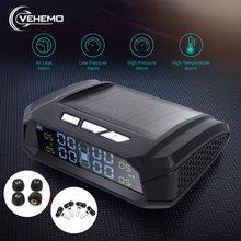 Vehemo система контроля давления в шинах, система безопасности автомобиля, 5 В, USB TPMS, 4 шт., датчик, дисплей в реальном времени, ЖК-дисплей, цветной экран, шина, Android