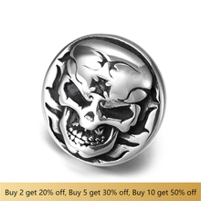 316L Stainless Steel Slider Beads 10x5mm Hole Disc Skull Polished Accessories Slide Charms for DIY Bracelet Jewelry Making stainless steel slider beads shield skull 12 6mm hole slide charms for men leather bracelet punk jewelry making diy supplies