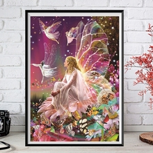 Diamond Painting Butterfly Beauty Elves Full Square/Round Embroidery Drill Cross Stitch 5D DIY Rhinestone Home Decor New Arrival
