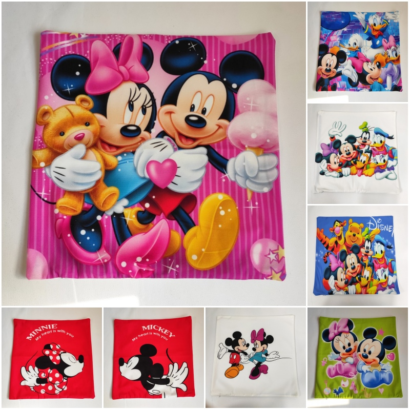 Disney Cartoon Mickey Minnie Mermaid Princess Decorative/Nap Pillow Cases Cover Pillowsham Cushion Cover For Baby Kids 45x45cm