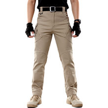 New Men's Stretch Cargo Pants Male Multiple Pocket Military Cotton Urban Combat Pant Men Slim Work Tactical Pant BFIX79(China)