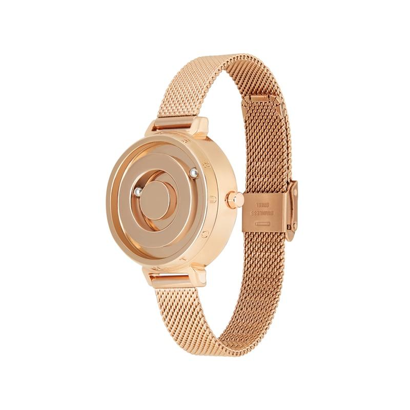 Eutour new original magnetic black gold trend women's watch female student quartz temperament fashion real belt stainless steel 2