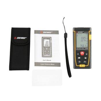 Telémetro de doble burbuja Horizontal SNDWAY, medidor de distancia láser, rango de herramienta manual alimentada por batería, dispositivo SW-TG50 70 100 120M