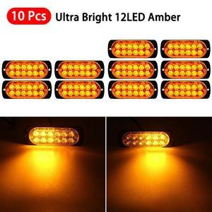 10pcs Amber LED Car Front Gril