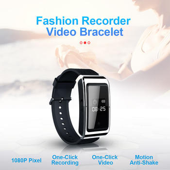 D6 Portable Audio Video Watch Bracelet Business Meeting Video Recorder Bracelet Sound Voice Recorder Recording Bracelet
