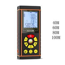 цена на 40/60/80/100m Handheld Infrared Ray Distance Meter 360°Level Bubble Area Measure
