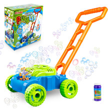 Creative Home Garden Interactive Pushing Car Automatic Bubble Machine Maker Outdoor Toy for Kids Summer Gift Toy for Children