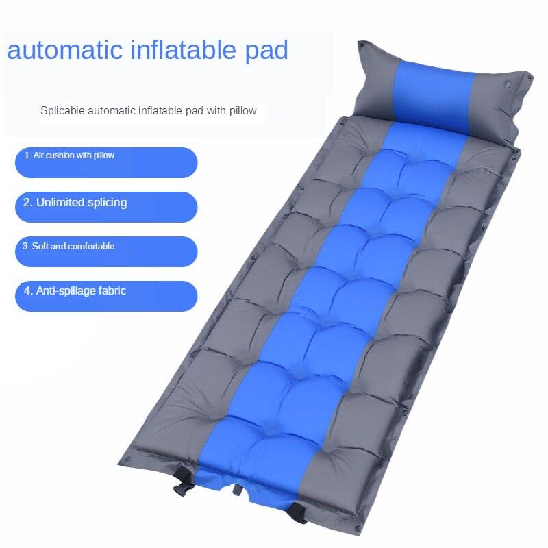 Outdoor Single Camping Moisture-proof Mat Inflatable Mattress Thickened Air Mat Sleeping Mat Portable Tent Air Cushion