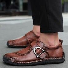 Туфли мужские кожаные ручной работы натуральная кожа повседневные