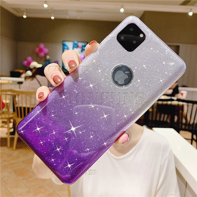 Soft Glitter Case For iPhone 11 Pro Max XR XS MAX X Coque Silicone TPU Phone Cases For iPhone 8 7 6 6s s Plus Bling Cover Fundas image