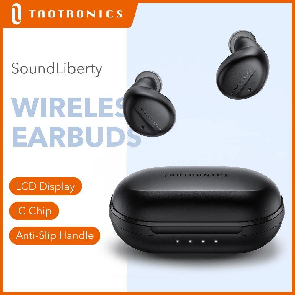 Bluetooth-наушники TaoTronics SoundLiberty 94, TWS, 32 часа воспроизведения, активное шумоподавление, водонепроницаемые умные наушники с сенсорным управление...