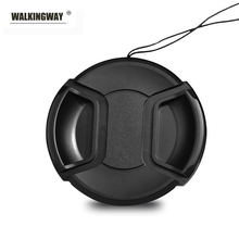 Walkingway Lens Cap Holder 43/49/52/55/58/62/67/72/77/82mm Center Pinch Snap on Cap Cover Lens Cap Protective Lens Protector