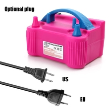 Electric Balloon Inflator 220V Air Blower Air Pump for Balloons Two Nozzle Party Decoration Portable Baloon Machine EU/US plug