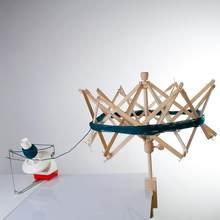 1pc fio de madeira swift fio fio fio fibra corda enrolador titular guarda-chuva tricô artesanato ferramentas para retalhos costura diy acessórios