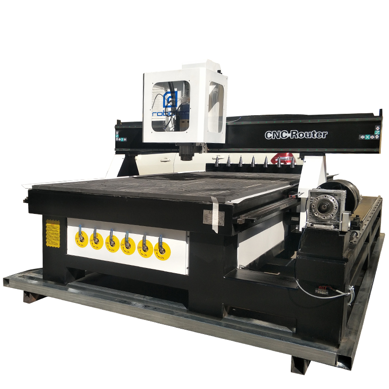 Robotec Cnc Router Auto Tool Changer/ 1530 (5x10') Working Area Auto Tool Change Atc Cnc Router/3d 4 Axis Cnc Milling Machine
