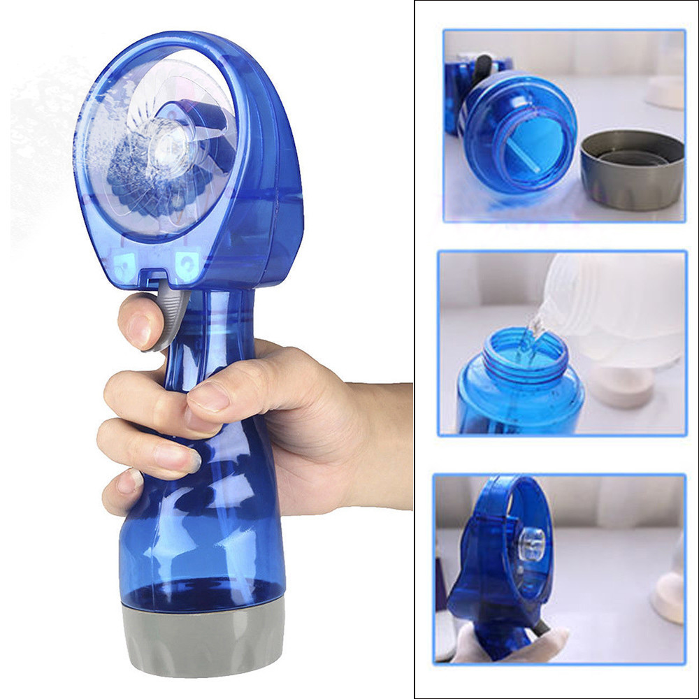 Portable Hand Held Cooling Cool Water Spray Misting Fan Mist Travel Beach Portable Mini Hand Held Spray Cooling Fan 95x70x265mm