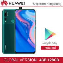 Huawei Y9 Prime 2019 Version mondiale 4GB 128GB 16MP Auto caméra Pop up Triple caméra affichage complet 4000mAh