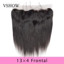 VSHOW 13X4 Pre Gezupft Gerade Spitze Frontal Schließung Natürliche Farbe Schweizer Spitze 100% Remy Menschliches Haar Peruanische Spitze Frontal Verschluss
