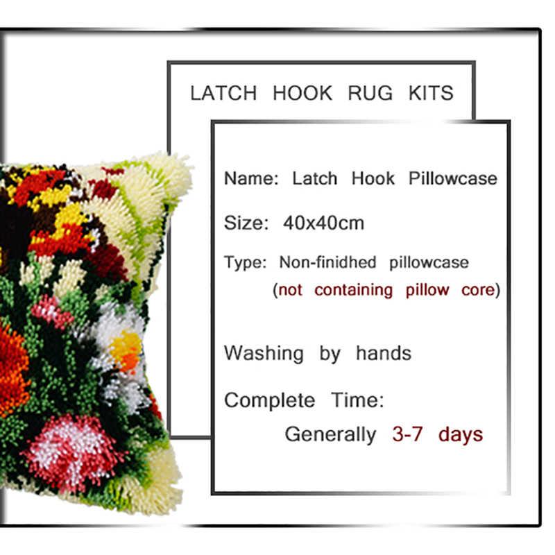 Gancio di chiusura Tappetini Kit di Ricamo Cuscino Handwerken Kussen Knooppakket Tappetini Aggancio Kit Arazzo Cuscino Kit Embroideried Federa