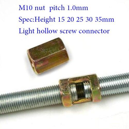 acabado en negro M6/x 35/mm Muebles Conector tornillos 100/unidades