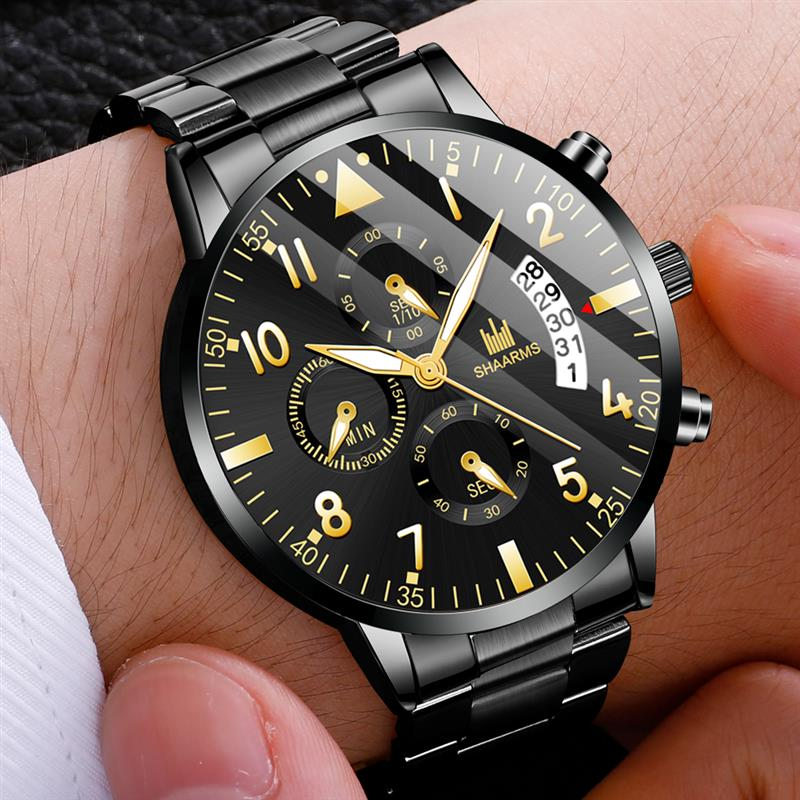 2020 Men Business Watch Luxury Stainless Steel Band Quartz Watches Fashion Man Date Wristwatch Male Sport Relogio Masculino