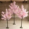 Искусственное вишневое дерево, имитация персикового дерева, художественное украшение, свадебное праздничное украшение, сценическое уличн...