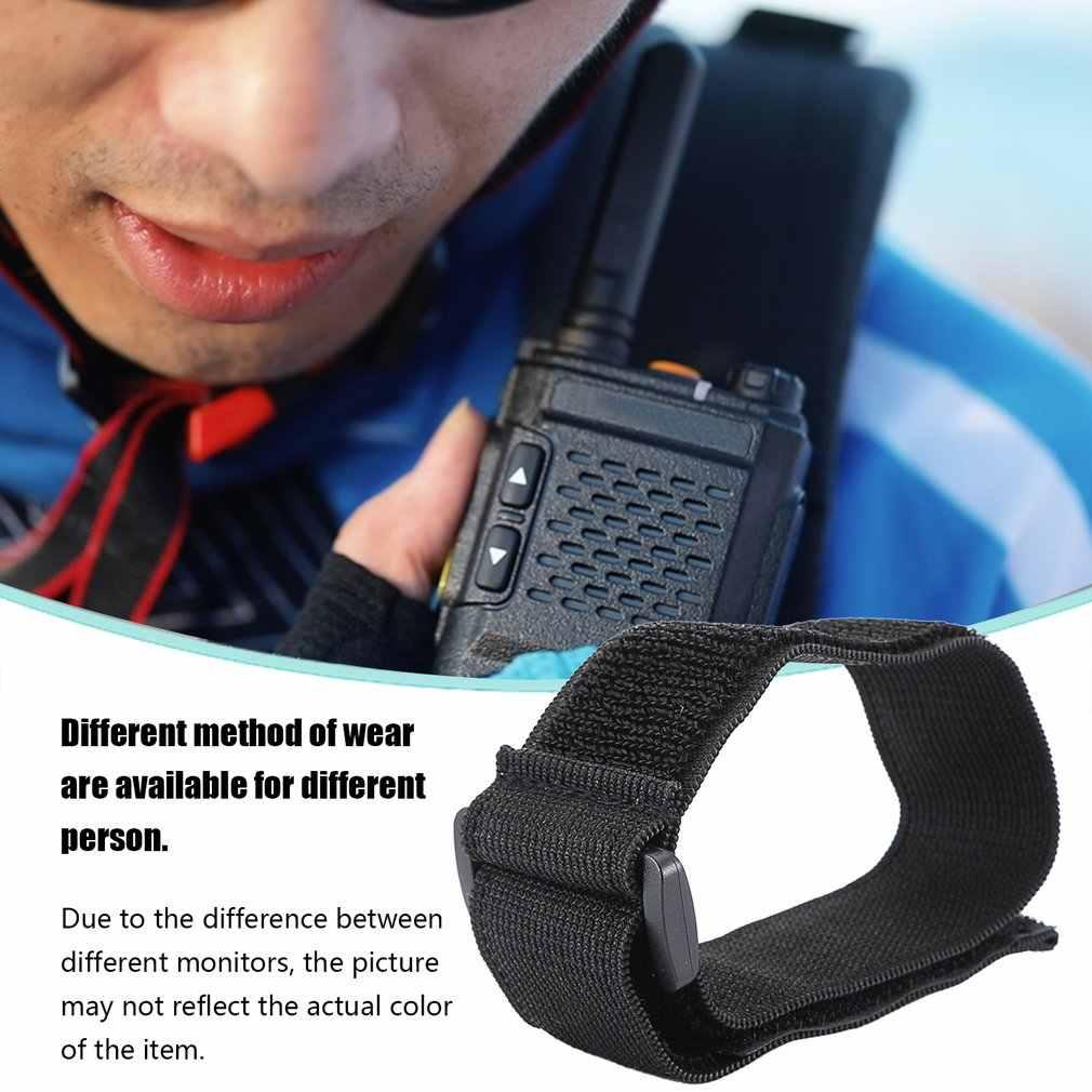 Ajustável náilon interfone bainha braçadeira tático saco braço banda braço para vários walkie talkie tático saco uso