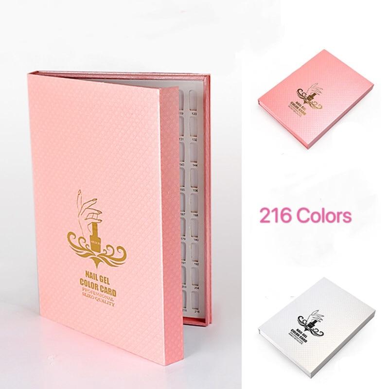 Diy 216 цветов s книга для демонстрации геля ногтей искусство