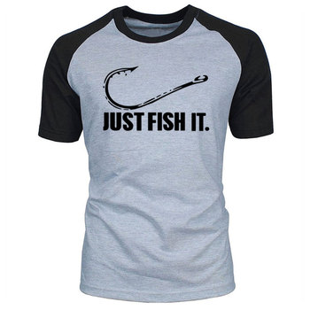 Love Fishing TShirt Fashion Men Fish It Funny Fishing Angler Hook Bait&Tackle Preshrunk Cotton raglan Short Sleeve T shirt