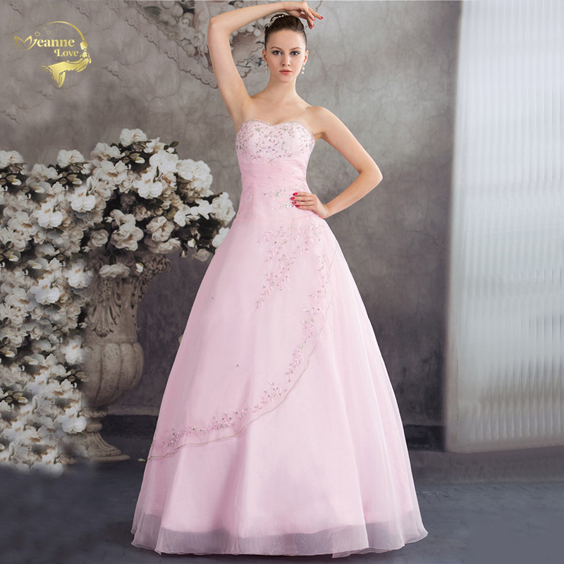 Vestido De Debutante Classical Style Sweetheart Blue Pink A Line Embroidery Ball Gown Sleeveless Quinceanera Dresses 2020 JH2139