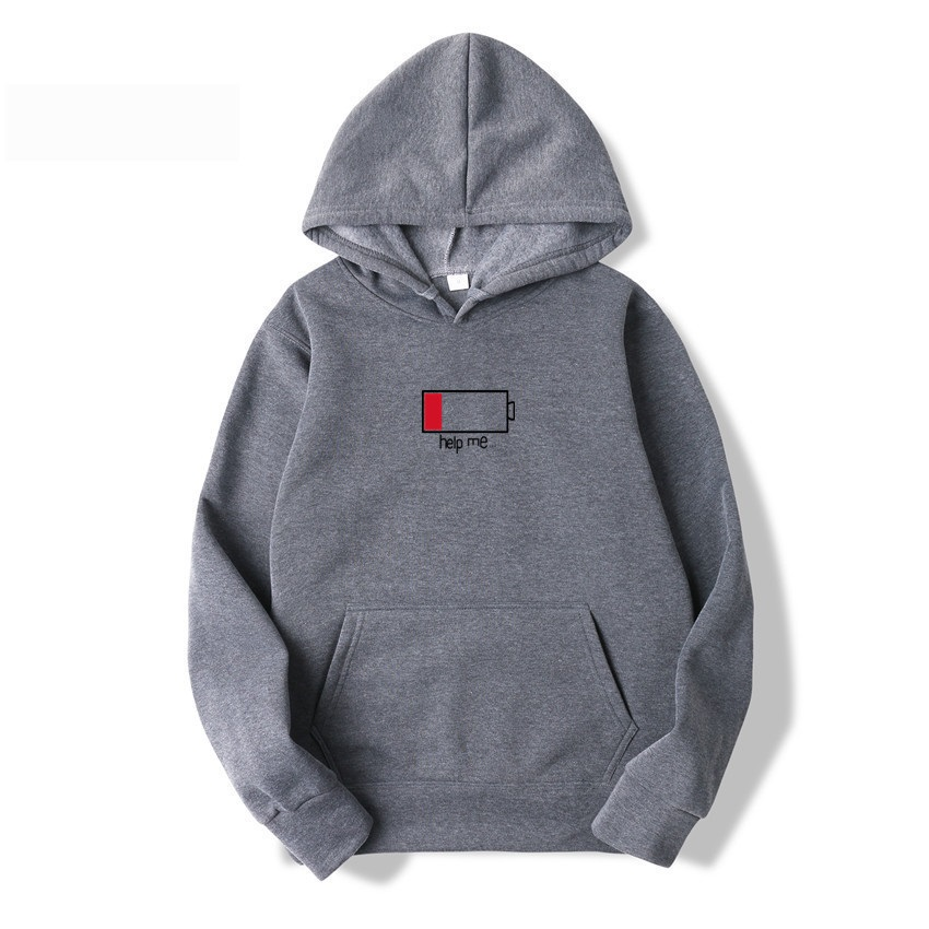 Grey Tops Quality Print Fleece Hoody Sweatshirt Mens Funny Hoodie Hip Hop Pullover Hoodies Streetwear Casual Fashion Clothes 3XL