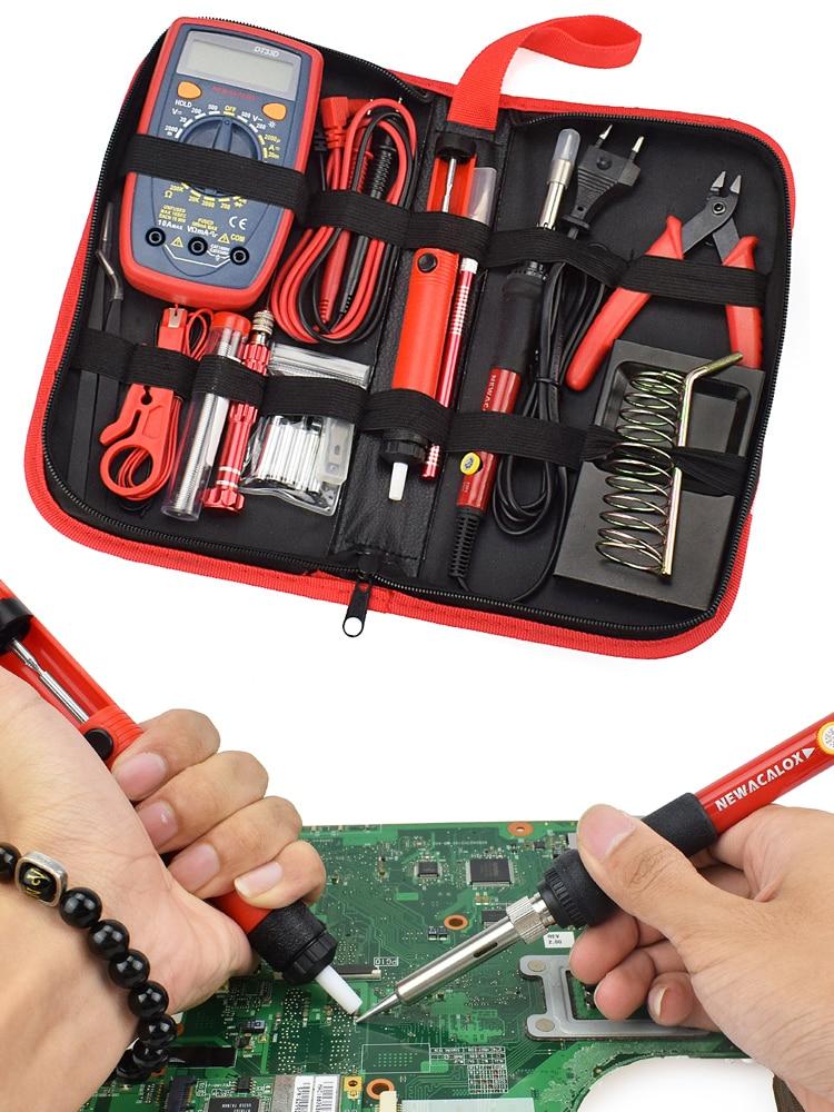 NEWACALOX Multimeter Desoldering-Pump Welding-Repair-Tool Digital Electric LCD Eu/us-60w/80w