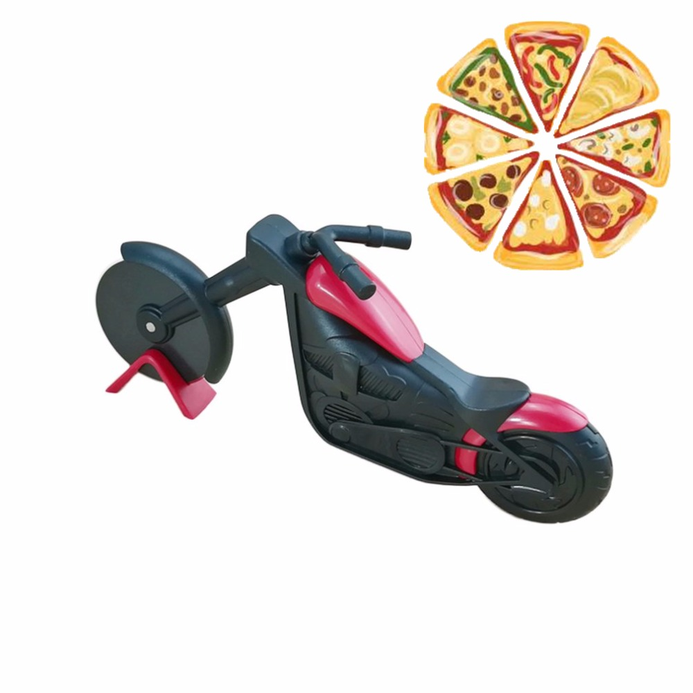 Knife-Tool Slicer Pizza-Cutter Motorcycle Motorbike-Wheel Stainless-Steel Portable Peel-Knives title=