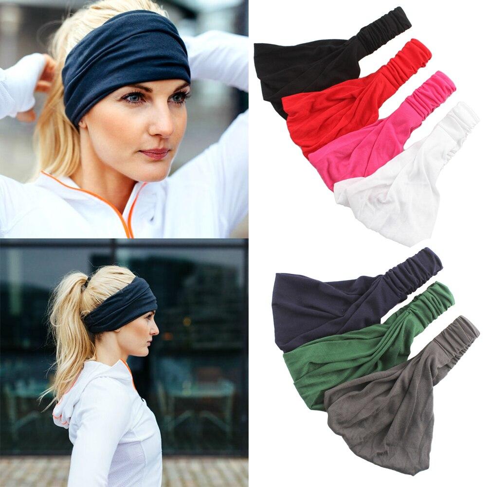 Women Wide Sports Headband Stretch Elastic Yoga Running Headwrap Hair Band